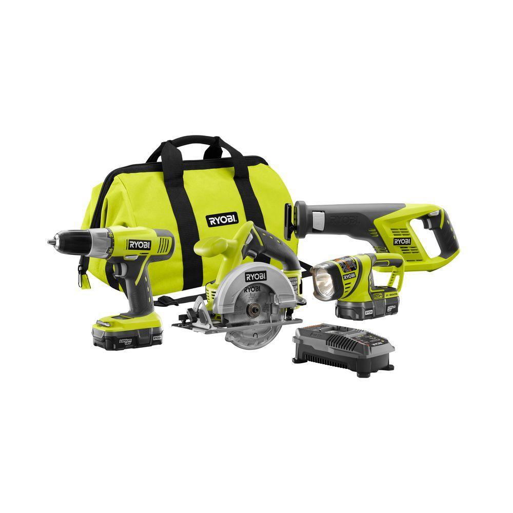 home depot 39 s ryobi one 18v cordless tool set thrifty homeowner 39 s dream yes or no. Black Bedroom Furniture Sets. Home Design Ideas